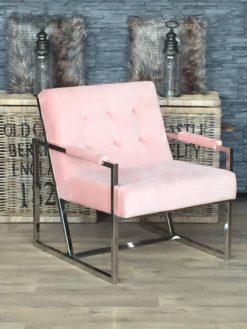 richmond-landelijk-wonen-fauteuil-bentley-pink-roze-velours-uitverkoop-dubbelmandesign