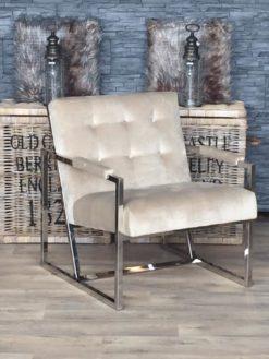 richmond-landelijk-wonen-fauteuil-bentley-khaki-beige-velours-uitverkoop-dubbelmandesign