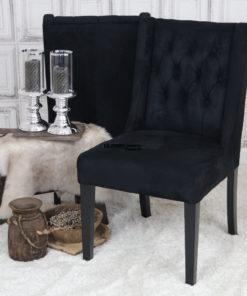 eetkamerstoel-stoelen-zwart-suede-leatherlook-chesterfield-knopen-eric-kuster-dubbelman-design
