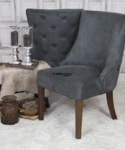 landelijke-eetkamerstoel-eetstoel-Coco-suede-leatherlook-grijs-knopen-rug-dubbelman-design