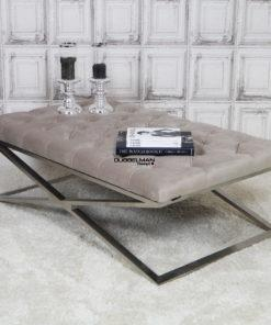 luxe-salontafel-stainless-steel-zilver-velours-khaki-beige-eric-kuster-dubbelmandesign-gecapitonneerd-knopen-luxury-living-lifestyle