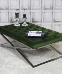 luxe-salontafel-stainless-steel-zilver-velours-groen-eric-kuster-dubbelmandesign-gecapitonneerd-knopen-luxury-living-lifestyle