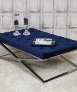 luxe-salontafel-stainless-steel-zilver-velours-blauw-koningsblauw-eric-kuster-dubbelmandesign-gecapitonneerd-knopen-luxury-living-lifestyle